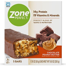 ZonePerfect All-Natural Nutrition Bar 5 Pack Chocolate Peanut Butter