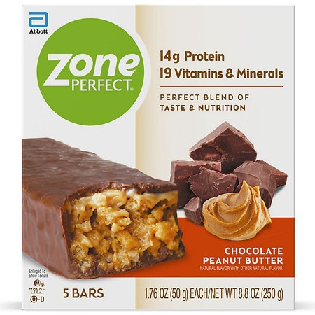 ZonePerfect All-Natural Nutrition Bar Chocolate Peanut Butter, 5 pk