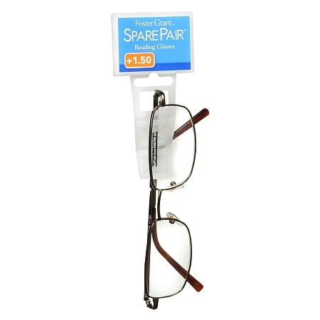 Foster Grant Spare Pair Metal Full Frame Reading Glasses +1.50
