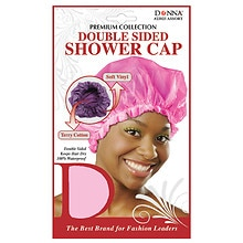 Donna Premium Collection Double Sided Shower Cap Assorted Colors