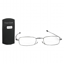 Foster Grant MicroVision Optical Metal Folding Micro-Reader Reading Glasses Gideon +2.00 Silver