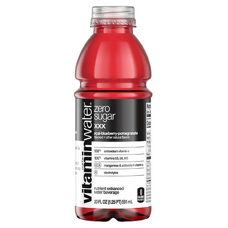 Glaceau Vitaminwater Zero Nutrient Enhanced Water Beverage XXX