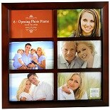 Walgreens 6-Opening Photo Frame 4 x 6  inch Brown