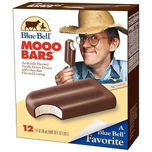 Blue Bell Ice Cream Bars Mooo