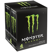 Monster Energy Supplement Drink 4 Pack