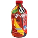 V8 V-Fusion 100% Vegetable & Fruit Juice 46 oz Bottle Strawberry Banana