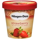 Haagen-Dazs All Natural Ice Cream Strawberry