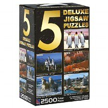 Sure-Lox 5 Deluxe Jigsaw Puzzles Assorted
