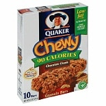 Quaker Chewy 90 Calories Granola Bars Chocolate Chunk