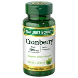 Triple Strength Cranberry 1680 mg Herbal Supplement Softgels