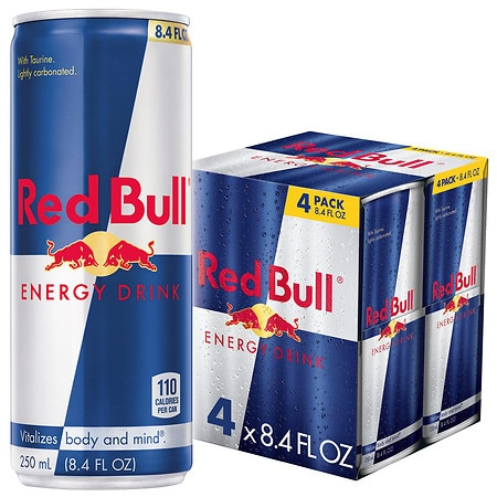 Red Bull Energy Drink Cans 4 pk
