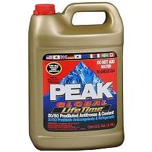 Peak Global Lifetime 50/50 Prediluted Antifreeze & Coolant Liquid