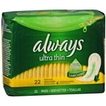 Always Ultra Thin Pads without Wings Regular