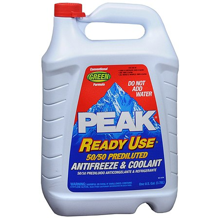 PEAK Ready Use 50/50 Prediluted Antifreeze & Coolant Liquid