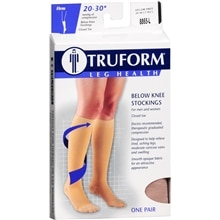 Truform Stocking, Below Knee Closed Toe Style (Firm) 20-30mm L