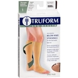 Truform Anti-Embolism Stocking, Below Knee Open Toe Style, LargeLarge