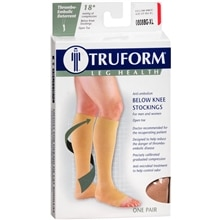 Truform Unisex 18 mmHg Open Toe Anti-Embolism Below Knee Stockings Size XL XL