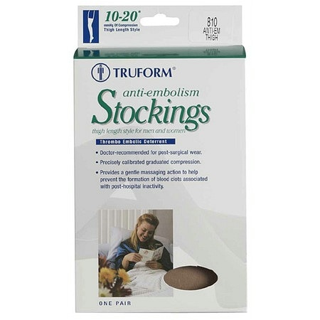 Truform Anti-Embolism Stocking, Thigh Length Open Toe Style XL
