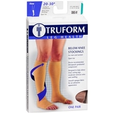 Truform Stocking, Below Knee Open Toe Style (Firm) 20-30mm M