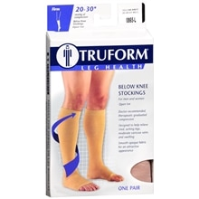 Truform Stocking, Below Knee Open Toe Style (Firm) 20-30mm Large