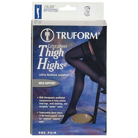 Truform Women's LITES Thigh Highs Large