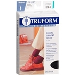 Truform Men's Casual Style Over-the-Calf Length Firm (15-20 mm) Support Socks Medium