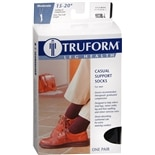 Truform Men's Casual Style Over-the-Calf Length Firm (15-20 mm) Support Socks Large
