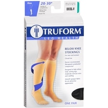 Truform Stocking, Below Knee Closed Toe Style (Firm) 20-30mm M