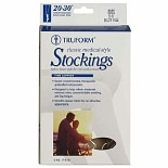 Truform Stocking, Below Knee Closed Toe Style (Firm) 20-30mm, LargeLarge