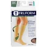 Truform Anti-Embolism Stocking, Below Knee Closed Toe Style, Large Large