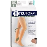 Truform Unisex 18 mmHg Closed Toe Anti-Embolism Thigh Length Stockings Size M M