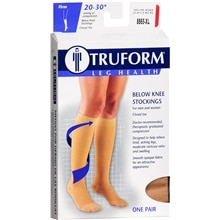 Truform Unisex Firm Closed Toe Below Knee Stockings XL