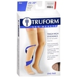 Truform Unisex Firm Closed Toe Thigh High Stockings Size XL Beige