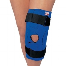 Professional Neoprene Knee Stabilizer Wrap with Hinged Bars Large