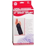 OTC Professional Orthopaedic Lightweight Breathable 8 in. Wrist Splint, Right XS Black