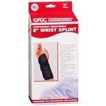 OTC Professional Orthopaedic Lightweight Breathable 8 in. Wrist Splint, Right XL Black