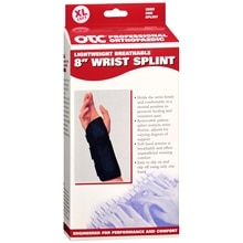 OTC Professional Orthopaedic Lightweight Breathable 8 in. Wrist Splint, Left x-Large