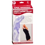 OTC Professional Orthopaedic Lightweight Breathable Wrist/Thumb Splint, Right S Black