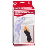 OTC Professional Orthopaedic Wrist/Thumb Splint Black Right 2087 M Black