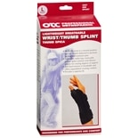 OTC Professional Orthopaedic Lightweight Breathable Wrist/Thumb Splint, Right L Black