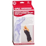 OTC Professional Orthopaedic Lightweight Breathable Wrist/Thumb Splint, Left medium