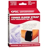 OTC Professional Orthopaedic Tennis Elbow Strap with Therapeutic Gel Pad Black 2089 Fits Most Adults Black