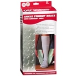 OTC Professional Orthopaedic Ankle Stirrup Brace with AIRFORM Pads Pony (Youth) Size, Left Pediatric White