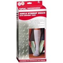 OTC Professional Orthopaedic Ankle Stirrup Brace with AIRFORM Pads Pony (Youth) Size, Left Adjustable