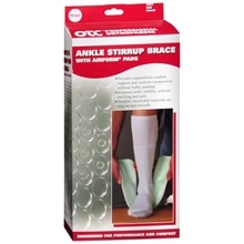 OTC Professional Orthopaedic Ankle Stirrup Brace with Airform Pads White Left 2092 One Size White