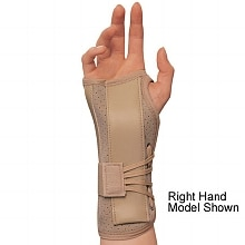 Soft-Fit Suede Finish Wrist Brace, Left X-Small