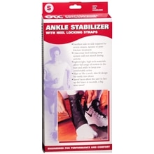 OTC Professional Orthopaedic Ankle Stabilizer w/ Heel Locking Straps, Black Small