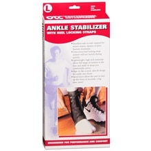 Ankle Stabilizer w/ Heel Locking Straps, Black Large