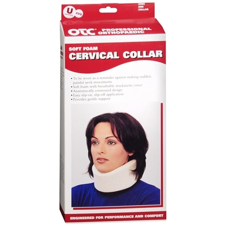 OTC Professional Orthopaedic Soft Foam Cervical Collar, Average A-U White