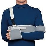 OTC Professional Orthopaedic Sling and Swathe Shoulder Immobilizer Gray Adjustable